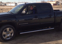 Beau LeBeaux, member of the Lakota Federal Credit Union, purchased his pick-up truck by utilizing a secured loan.